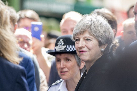 Met Chief Cressida Dick with Theresa May.