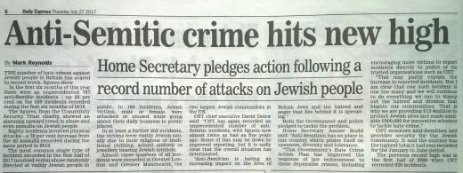 Hate crimes against Jews.