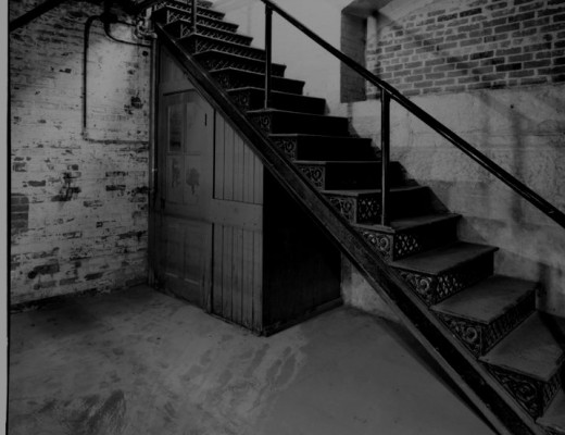 Basement stairs similar to the ones in Webster Groves