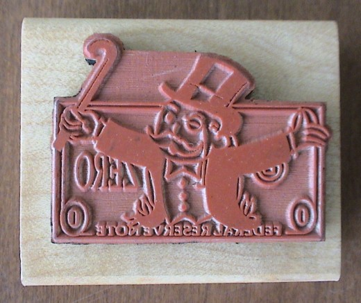 monopoly man custom stamp rubber bottom