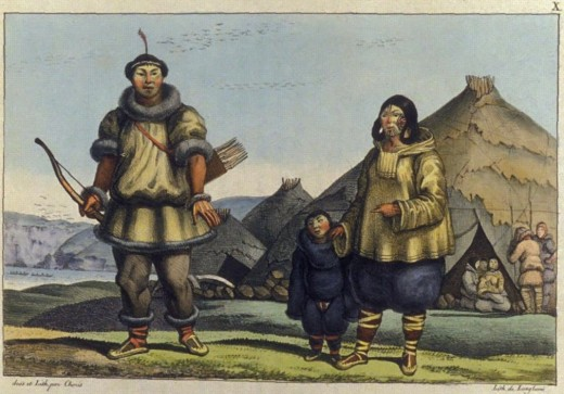 A depiction of one of Siberia's indigenous people groups.