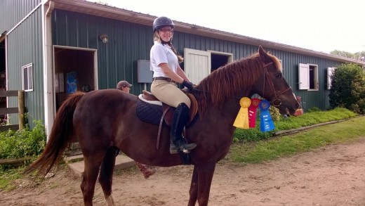 Dublin with a proud rider at one of our farm shows!