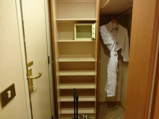 We had lots of space to store our clothes and things, including a room safe for our valuables. They even provided robes to wear!
