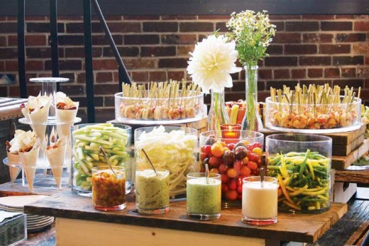 "It's a must to have ""displayed"" canapes when hosting a cocktail-hors d'ourvre reception."