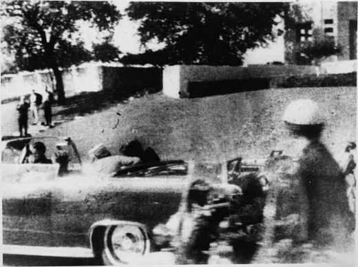 Mary Moorman's photo taken seconds after Kennedy was mortally wounded.