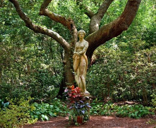 A garden sculpture of The Mother Goddess