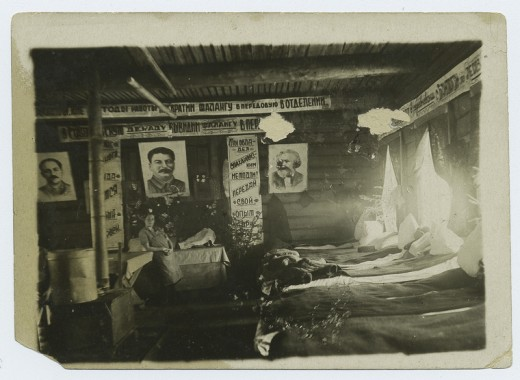 Some of the more comfortable interior conditions of the Gulag.