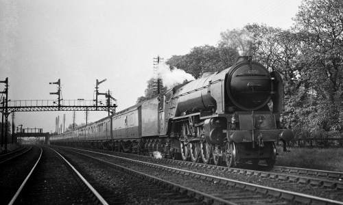 In 1948 A1 60135 'Madge Wildfire' recently allocated to Gateshead Shed (52A)  takes an Up express through Chaloners Whin Junction (where the NER met the GNR south of Selby