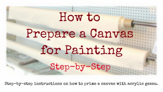 Unprimed canvas is sold by the yard at art supply stores. How do you get it ready for painting? Step-by-step instructions on how to prime a canvas with acrylic gesso.