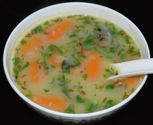 Moong dal (mung bean) soup