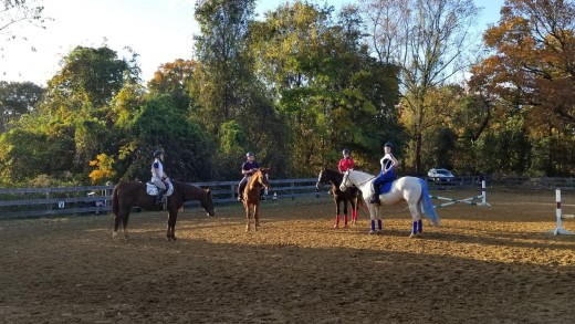Riding in group lessons is also a great way to make friends! I have made many lifelong friendships at the barn!