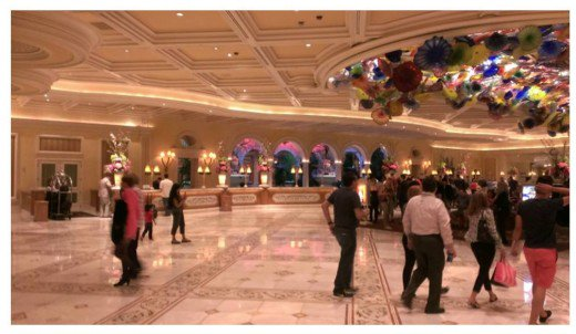 The Bellagio Hotel hosts the most exquisite marble floors in the world.