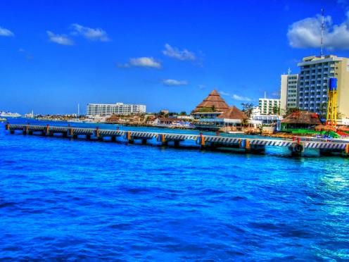 Dock in Cozumel, Mexico