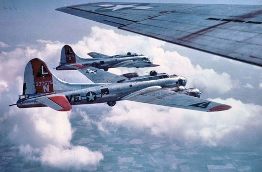 B-17s of the 532d Bombardment Squadron, 381st Bombardment Group