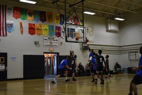 An Alumni Basketball Game in Progress