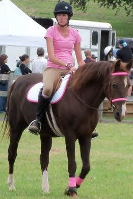 Maybe they are grateful for color coordinated rider  and tack? Doubt it, though it is cute.