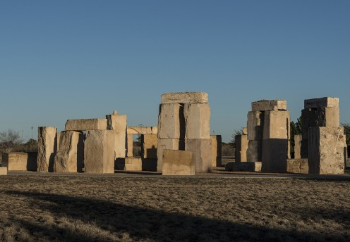 Stonehenge replica on the campus of the University of Texas of the Permian Basin, Odessa