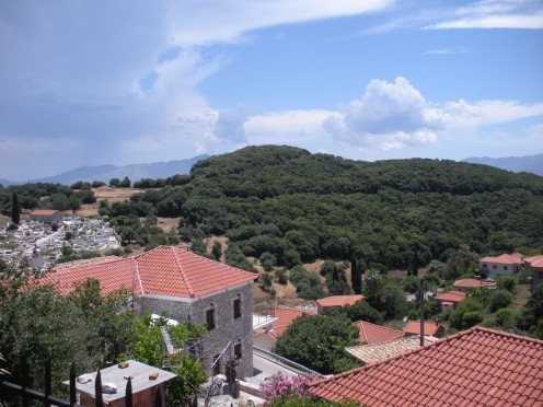 A view of the village in Greece