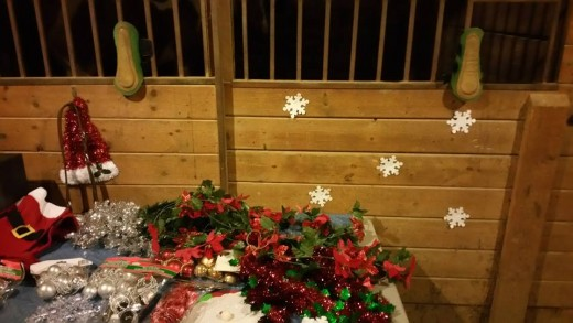 All decorations for the decking,purchased at the dollar store!