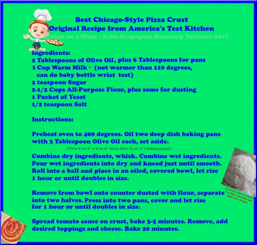 Best Chicago Style Pizza Crust Recipe Nutrition on a Dime Recipe Collection