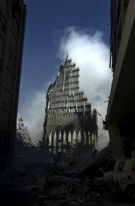 World Trade Center after attack in 2001