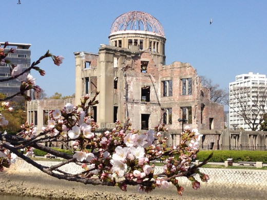 Epicenter of the atomic bomb dropped on Hiroshima, Japan - 1945