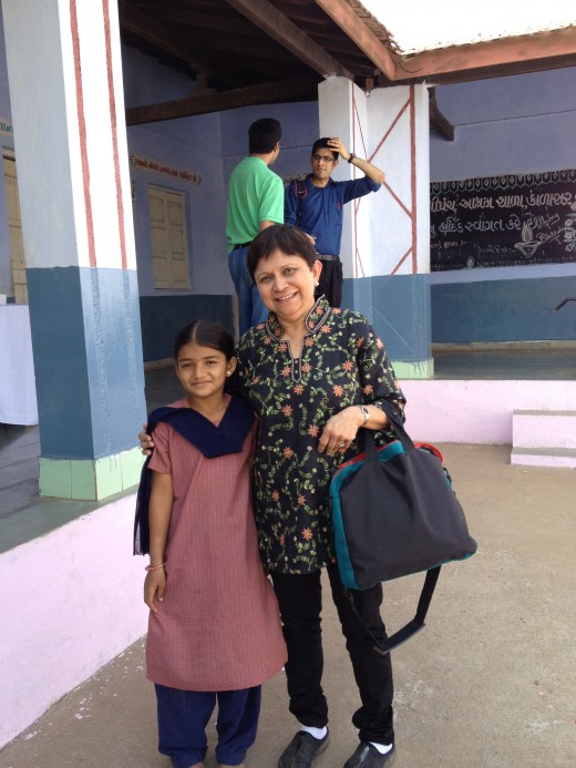 I mentor and support this little girl in India so that she can receive education