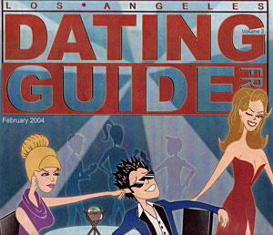 The cover of the issue of LA Dating Guide in 2004