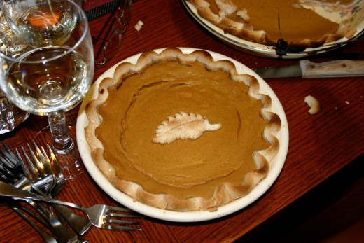 Gluten-free pumkin pie to please Melissa and Brook.