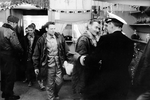 USS Pueblo crew being repatriated.