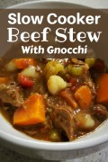 Slow-Cooker Beef Stew With Gnocchi