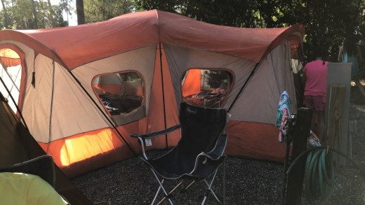We got this maharaja size tent for $50!