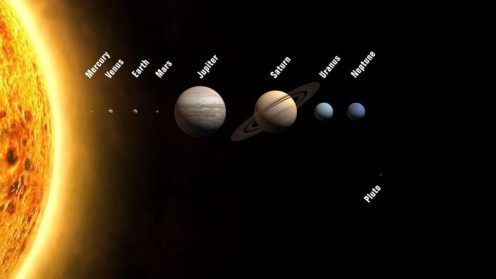 Our solar system has nine major planets