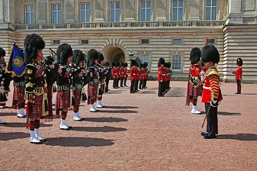 Changing the Guard ceremony at the forecourt