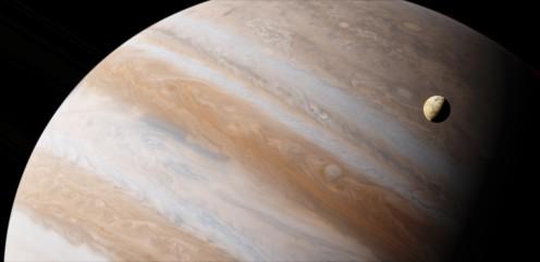 Jupiter and Lo Satellite