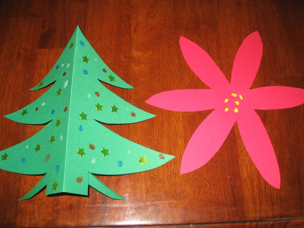 Christmas crafts for kids using construction paper for Holiday crafts with construction paper