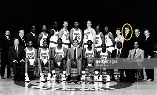 Jim Boylen with the World Champion Houston Rockets
