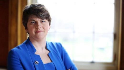 DUP leader:  Arlene Foster.