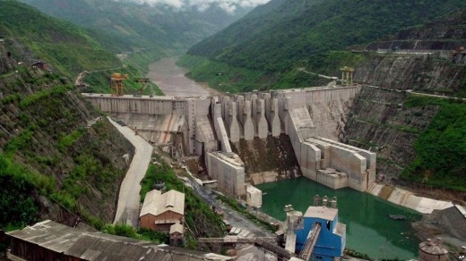 A hydroelectric dam on the Mekong. Photo: National Geographic