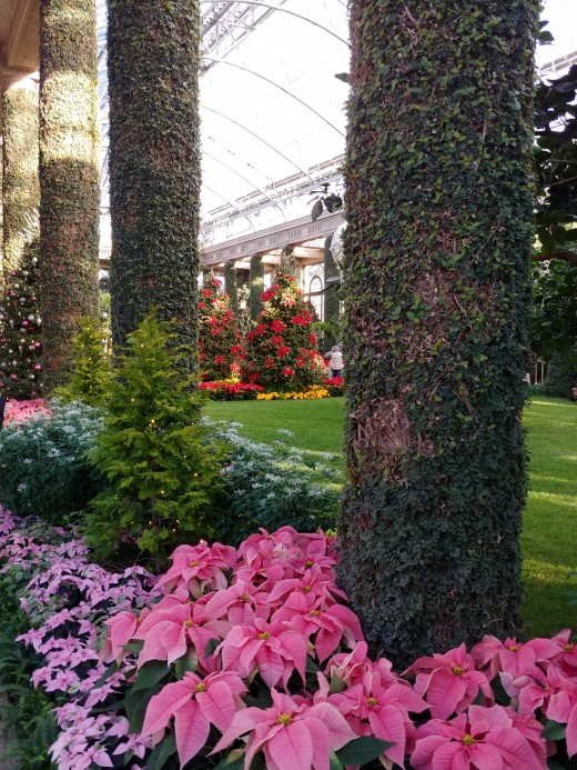 The artists at Longwood Gardens know how to surround everything with just the right amount of color.