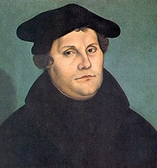 Martin Luther (10 November 1483-18 February 1546) A German professor of theology, priest, monk, and composer