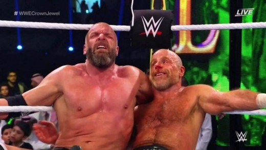 Aftermath: Even though DX were victorious, Triple H suffered a legitimate injury during the match.