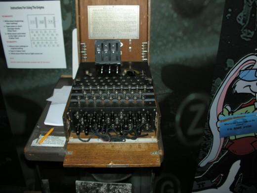 A working Enigma machine.