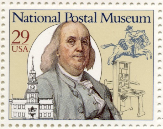 U.S. Stamp (Scott #2779) National Postal Museum Ben Franklin 29 Cent Stamp issued 1993