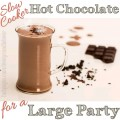 Make Hot Chocolate for Large Party in a Slow Cooker