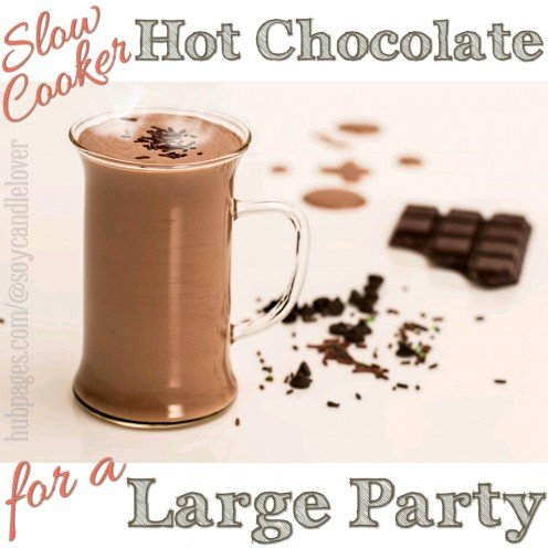 This page shows how to make Slow Cooker Hot Chocolate for a Large Party.  Enjoy!