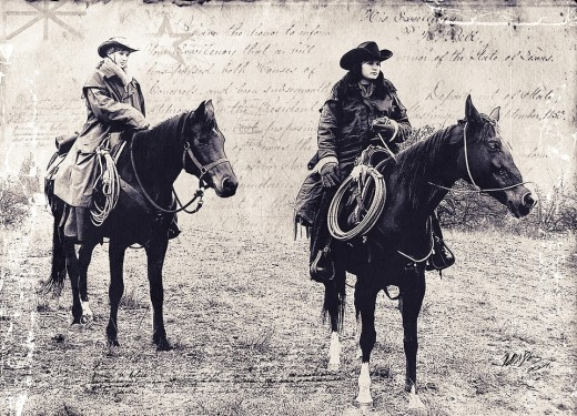 Cowboys of the 19th century.