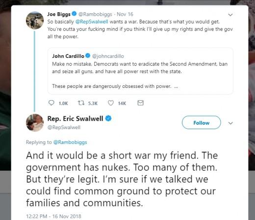 The Twitter exchange