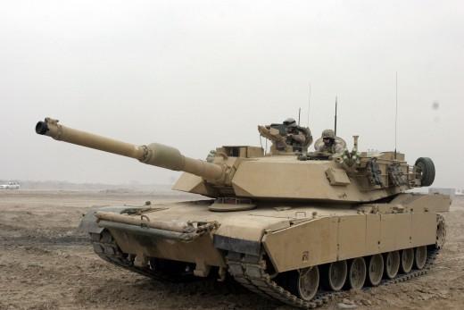 M1A1 Abrams Tank in Camp Fallujah. Superior firepower.