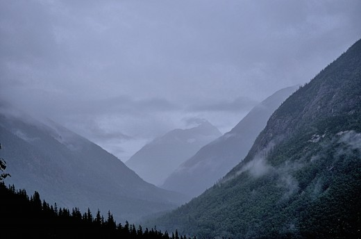 A scenic view along White Pass and Yukon Route